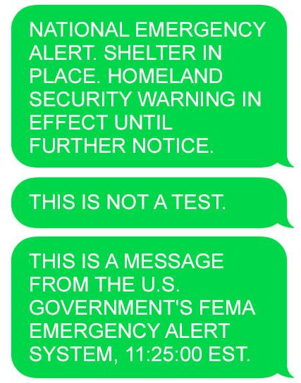 FEMA Text Alert